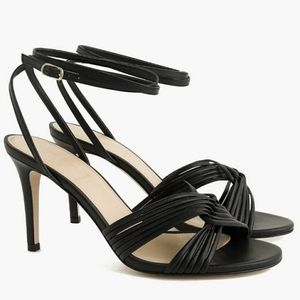 J Crew Strappy Leather Ankle Straps Heels H5567